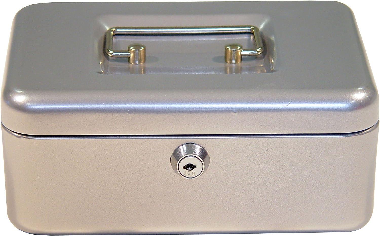 Geldbox mit Schloss kleine Kasse f/ür Geld-Scheine Geldschatulle mit Schl/üssel und Tragegriff axentia Geldkassette Geldkasse mit Euro-Z/ählbrett farblich sortiert