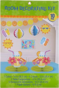 Amscan 246820 Fun in the Sun Party Decoration Kit, 1 kit