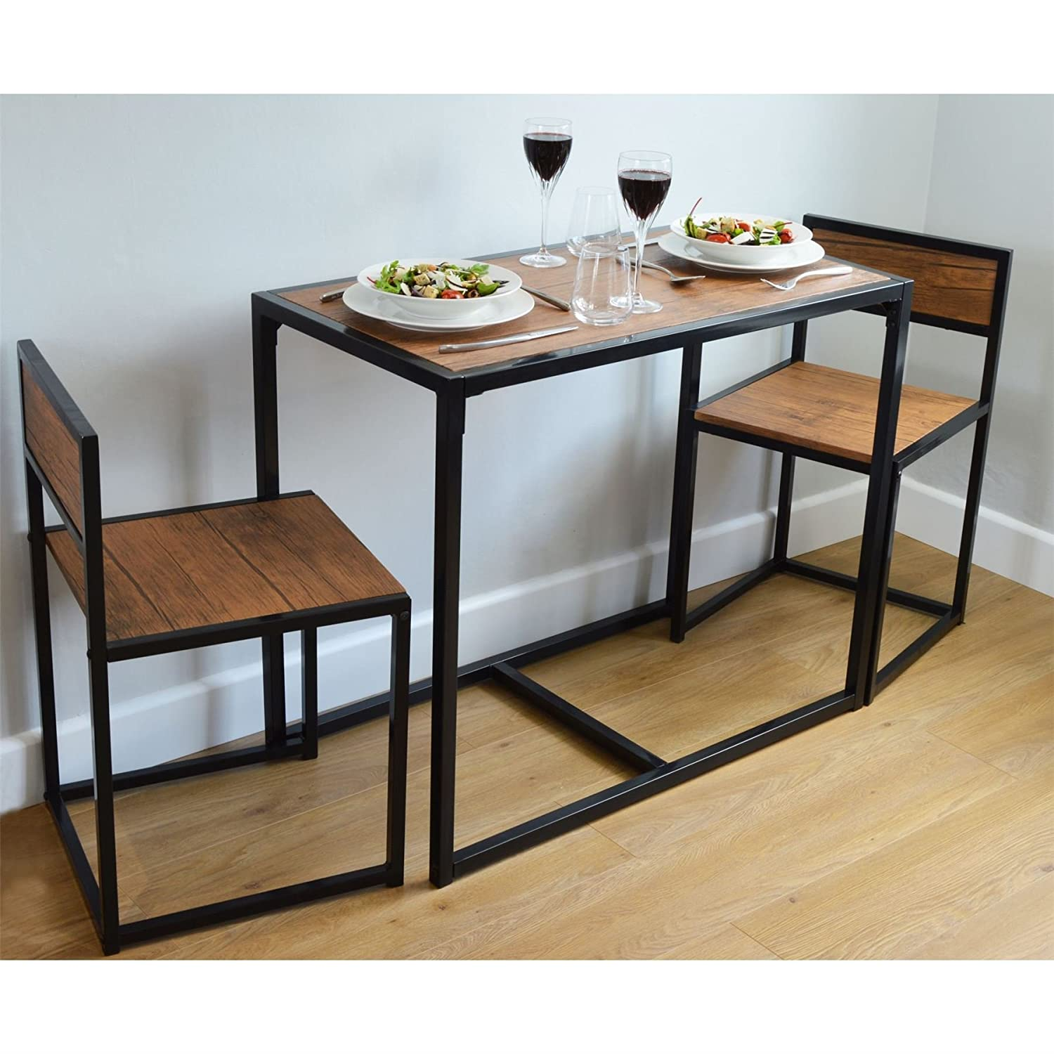 Harbour Housewares 2 Person Space Saving, Compact, Kitchen Dining ...