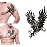 Temporary Tattoo For Girls Men Women 3D Wolf Sticker Size 19x12CM - 1PC.