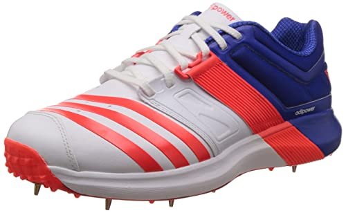 sale retailer cd91d e6e0b adidas adiPower Vector Cricket Shoes, White, 6 UK