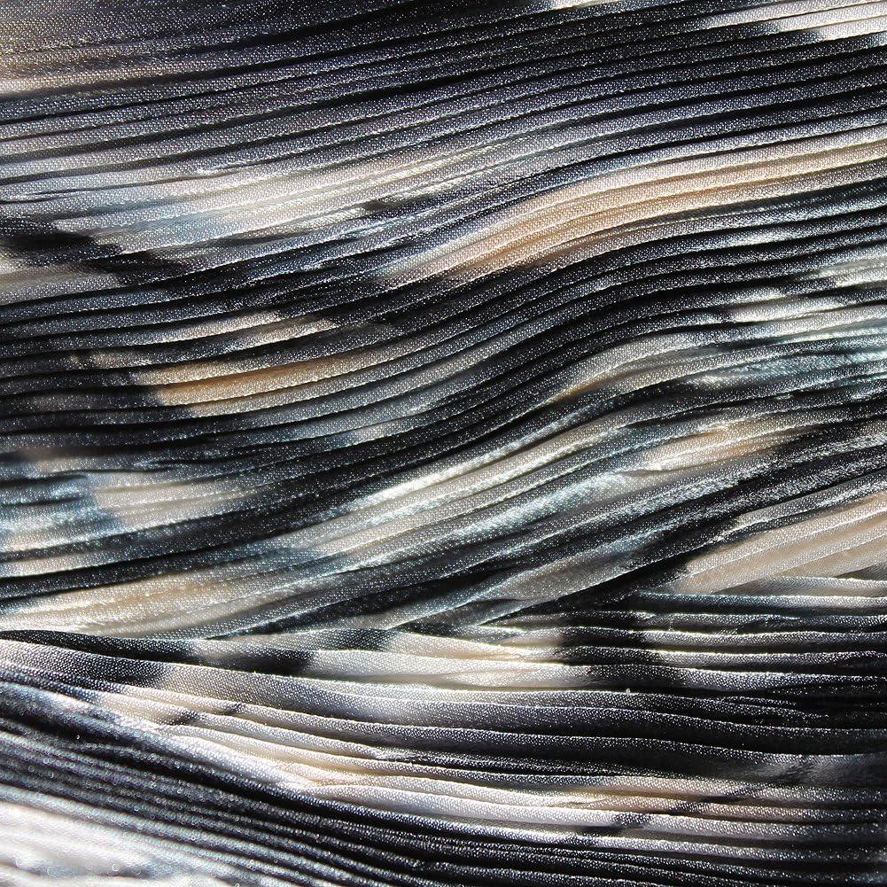 White and Beige Hand Painted Arashi Shibori Silk Scarf ArtisanStreets Black Grey