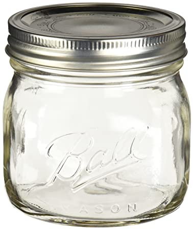 Amazon.com: Ball Collection Elite Pint Mason Jar with Lids and Bands 4PK  Wide Mouth, Clear: Arts, Crafts & Sewing