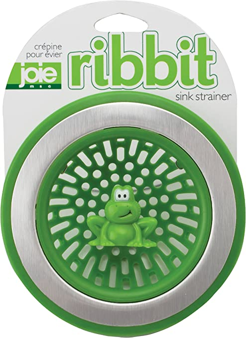 MSC International 10029 Joie Ribbit Kitchen Sink Strainer Basket, Frog,  4.5-inch, Green