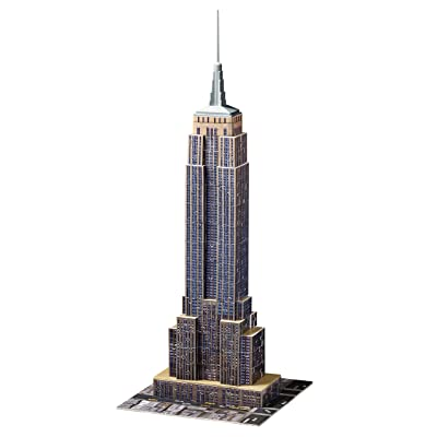 Ravensburger Empire State Building 216 Piece 3D Jigsaw Puzzle for Kids and Adults - Easy Click Technology Means Pieces Fit Together Perfectly: Toys & Games [5Bkhe1107322]