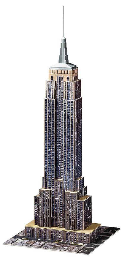 Ravensburger Empire State Building bei Nacht 3D Puzzle Bauwerke Spielzeug NEU Puzzles & Geduldspiele