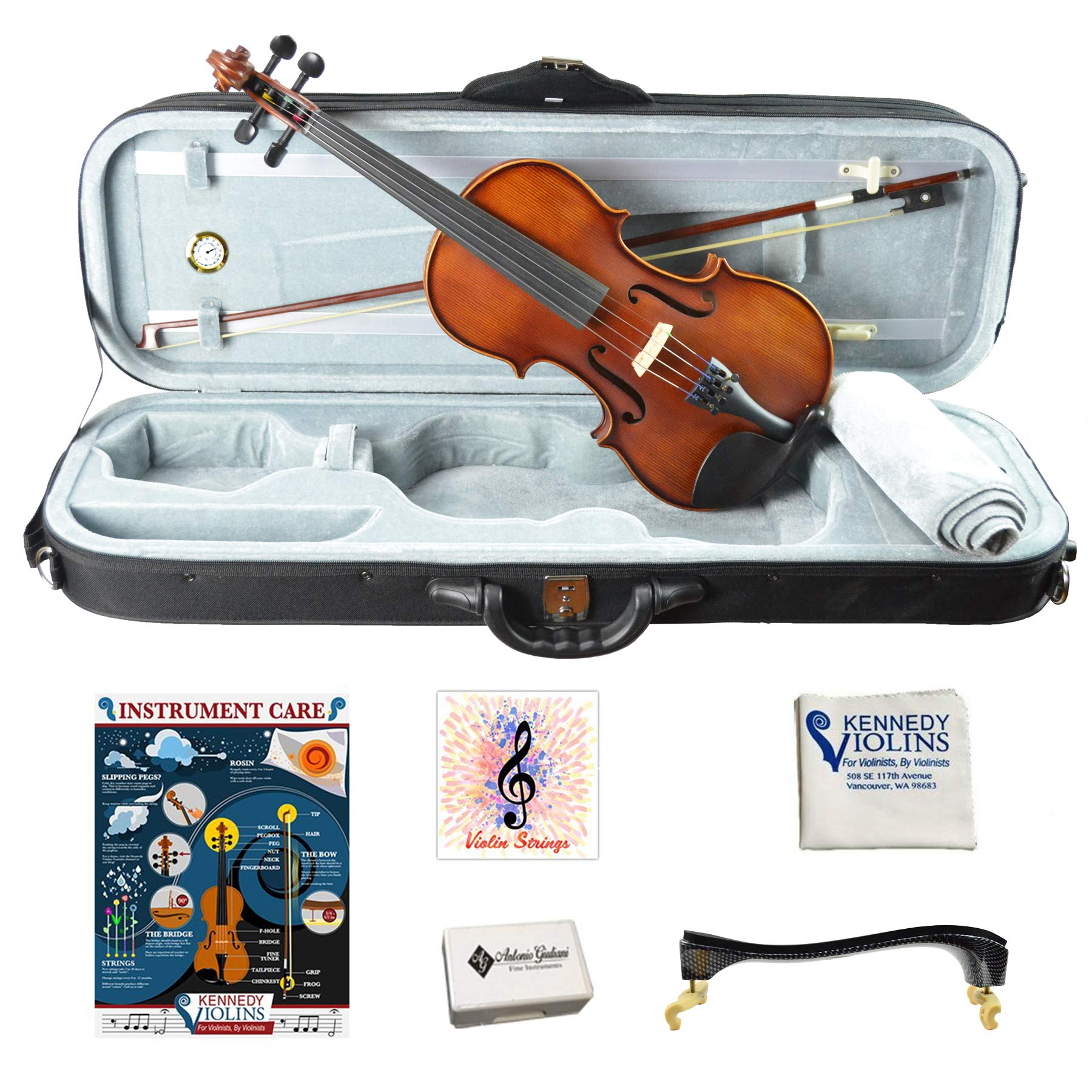 Bunnel Pupil Student Violin Outfit 4/4 (Full) Size by Kennedy Violins (Image #1)