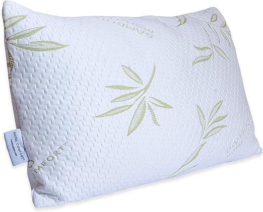 Pair cushion pillow soap Memory Foam h13cm Mite-Non-Allergenic Aloe