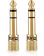 Adaptador Jack 6.3 a 3.5,IBRA Adaptador Convertidor de Audio Estéreo de Jack 3,5 mm Hembra a Jack 6,35 mm Macho (2 Unidades)