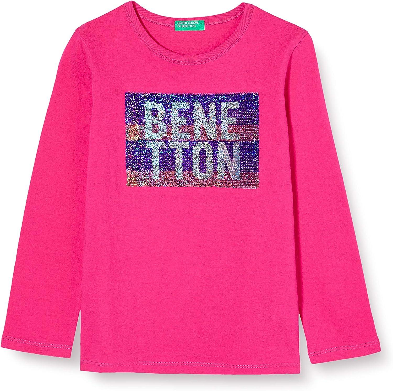 United Colors of Benetton Maglietta a Maniche Lunghe Bambina
