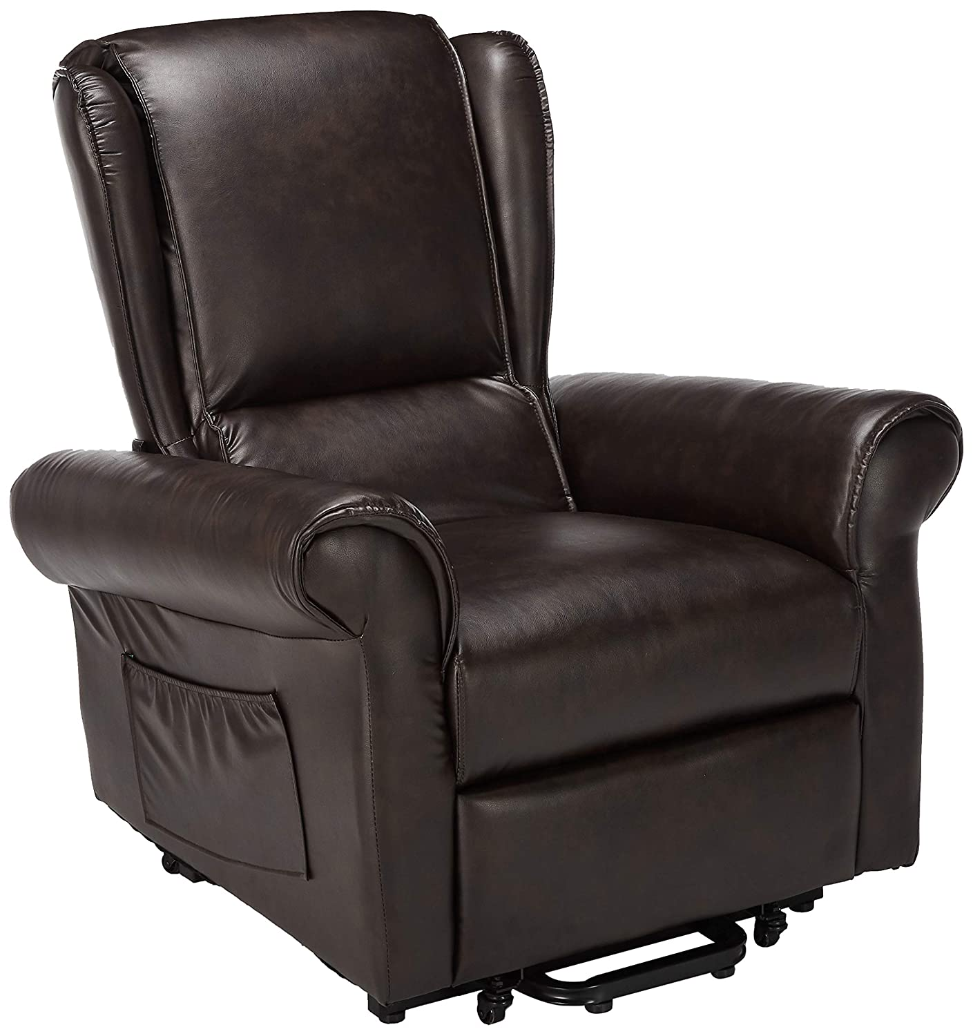 HomeRoots Furniture 285695-OT Recliner with Power Lift /& Massage Multicolor