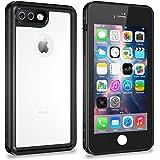 iPhone 7 Plus/8 Plus Waterproof Case, Singdo Exclusive Slim Design Case Built in Screen Protector Shockproof Snowproof IP68 Underwater Waterproof Case for iPhone 7 Plus/8 Plus (Black/Clear)