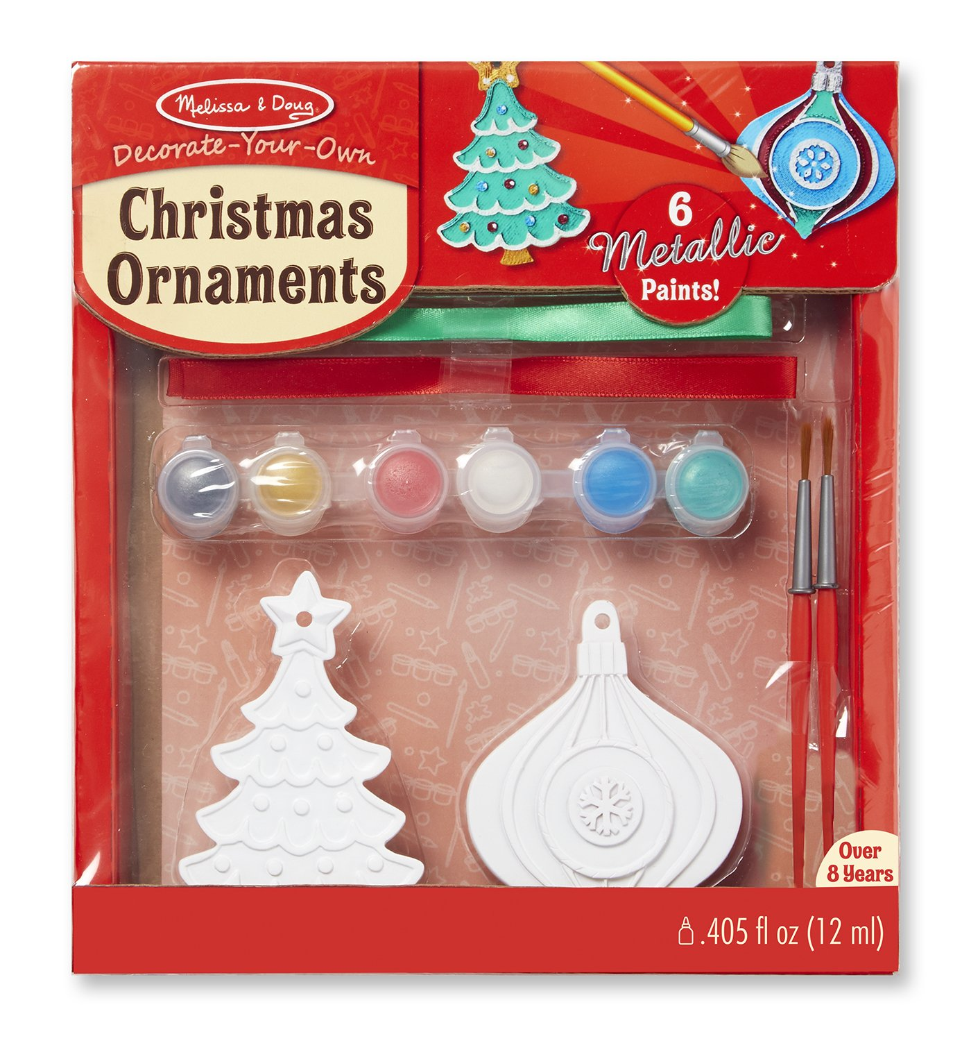 amazoncom melissa doug decorate your own christmas ornaments toy toys games - Childrens Christmas Ornaments
