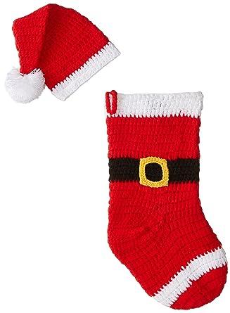 Amazon Mud Pie Unisex Baby Newborn Santa Stocking And Hat Set