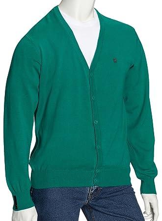 Fenchurch Hombre Cardigan Callum Cardi Knit, primavera/verano, hombre, color - verde, tamaño medium: Amazon.es: Deportes y aire libre