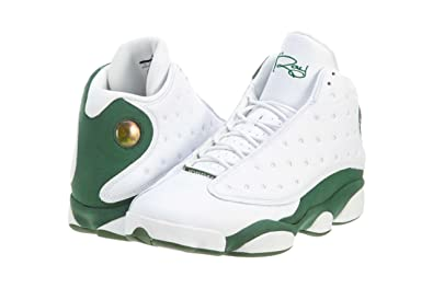 c12dec09fe94f4 promo code for nike mens air jordan 13 retro quotray allenquot white clover  leather basketball 90737