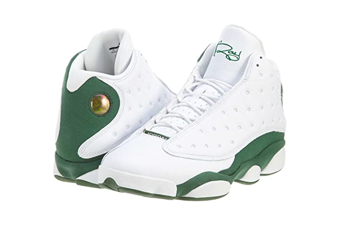 the latest 1cb5c d5c27 Amazon.com   Nike 100% Authentic Men s DS NIB Air Jordan 13 XIII Retro Ray  Allen PE 2011 414571-125 White Clover Leather sz10   Basketball