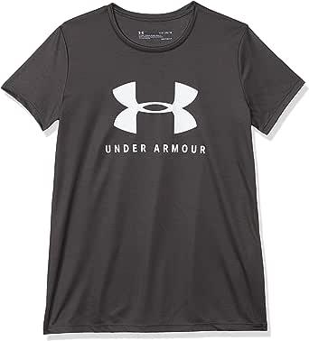 Under Armour Tech Solid Graphic Big Logo Camisa Manga Corta Niñas