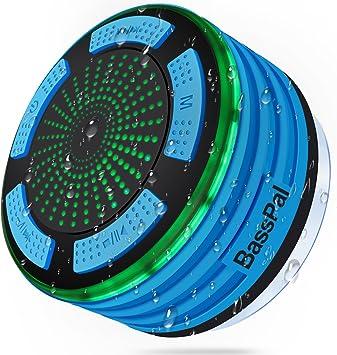 BassPal - Altavoz de Ducha, IPX7 Impermeable portátil inalámbrico ...