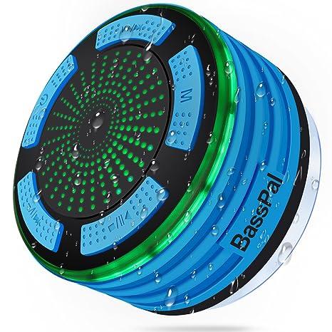 Bluetooth Lautsprecher, Basspal IPX7 Wasserfest Tragbar Wireless  Lautsprecher 4.0 Mit FM Radio Und LED Mood