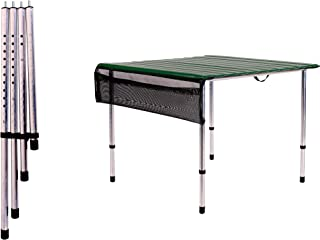 product image for Camp Time, Roll-a-Table, Green, with Adjustable Legs