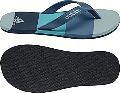 Unisex Flip Flop Swimming Sandals Eezay Striped Thong Blue Beach New BA8808