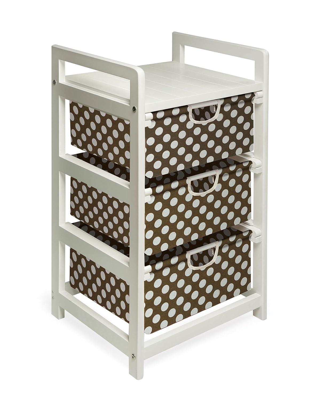 Badger Basket Company Three Drawer Hamper/Storage Unit in Cherry 00125