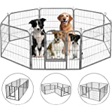 HONGFENGDZ Dog Fence Puppy Pen Outdoor Pet Playpen Portable Dog Kennel Indoor Large Enclosure Heavy Duty Metal Play Yard Gate