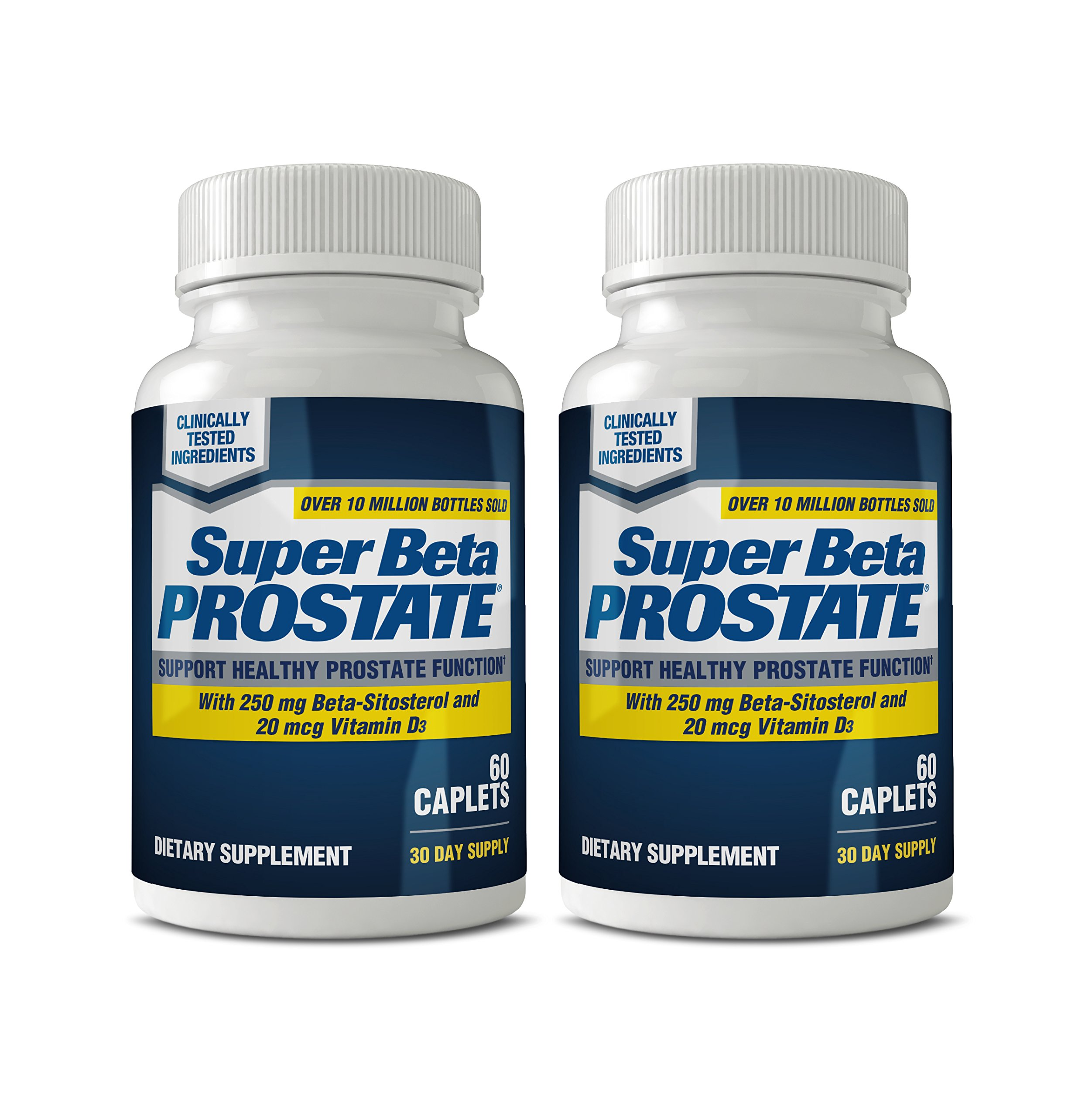 Super Beta Prostate Supplement for Men - Urinary Health & Prostate Support w/Beta Sitosterol, not Saw Palmetto - Reduce Bathroom Trips, Promote Sleep, Better Bladder Emptying (120 Caplets, 2-Pack) by SUPER BETA PROSTATE