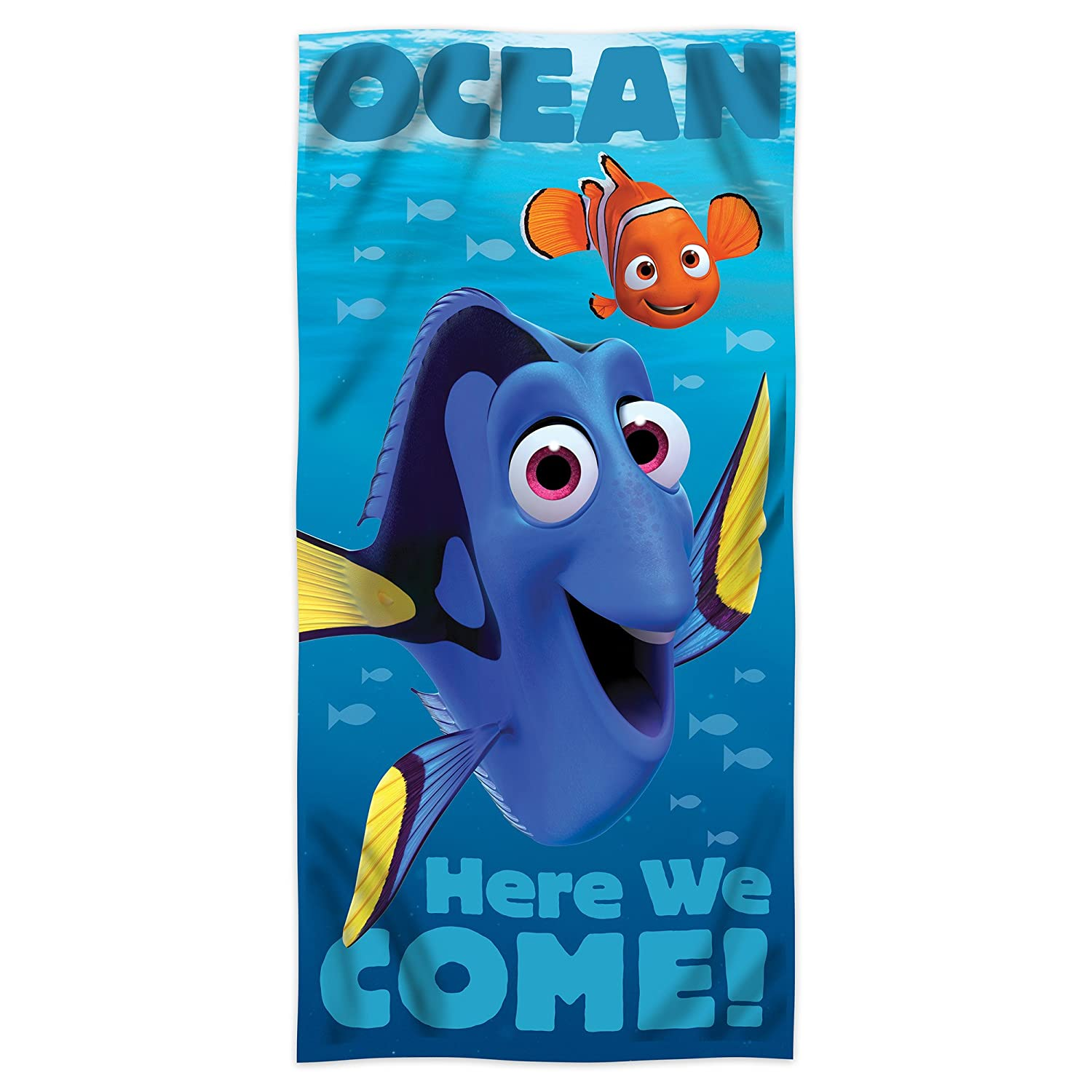 Disney Finding Dory Beach Towel - Ocean Here We Come! 28 x 58 inches