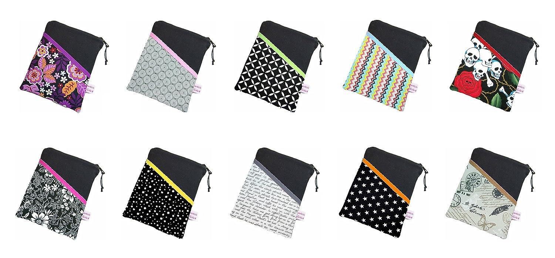 Werde selbst zum Designer: schwarze eReader Tasche mit Stoff-/Farbauswahl eBook Reader Tablet Hülle, Maßanfertigung bis max. 10,9 z.B. für Tolino Vision 4HD