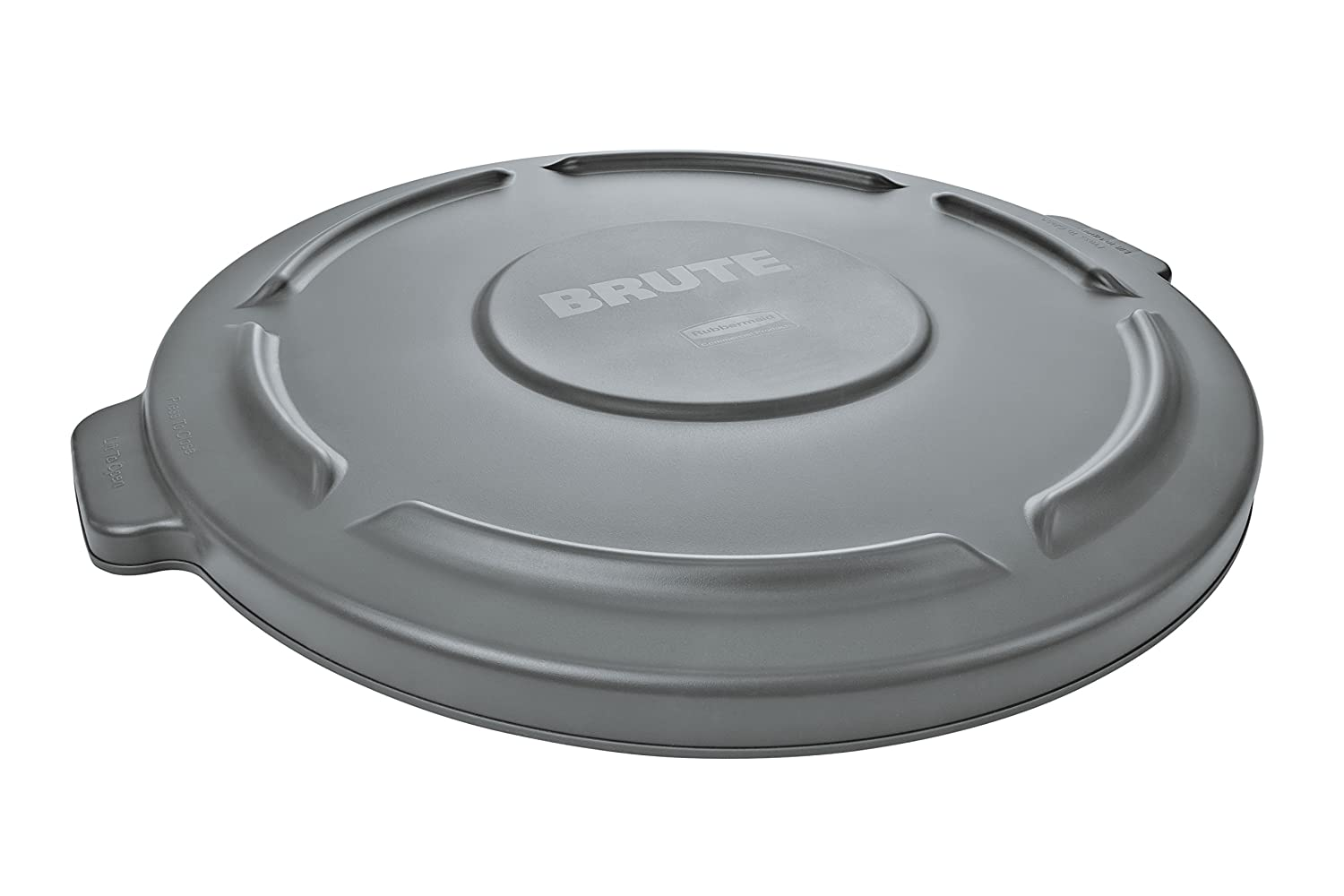 Rubbermaid Commercial Products FG264560GRAY BRUTE Heavy-Duty Round Trash/Garbage Lid, 44-Gallon, Gray