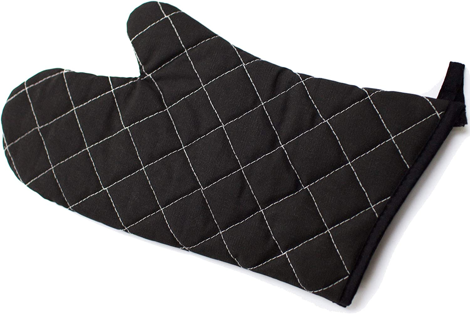 MANNKITCHEN Extra Large Oven Mitt - Heavy Duty Quilted Cotton with Flame Resistant Coating - Professional Oven Mitts for Commercial Kitchen