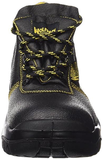 Wolfpack 15018035 Botas Seguridad Piel Negra Wolfpack Nº 43: Amazon.es: Industria, empresas y ciencia