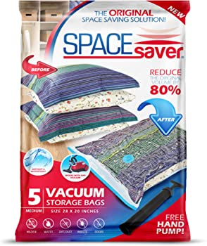 5-Pack SpaceSaver Premium Vacuum Storage Bags
