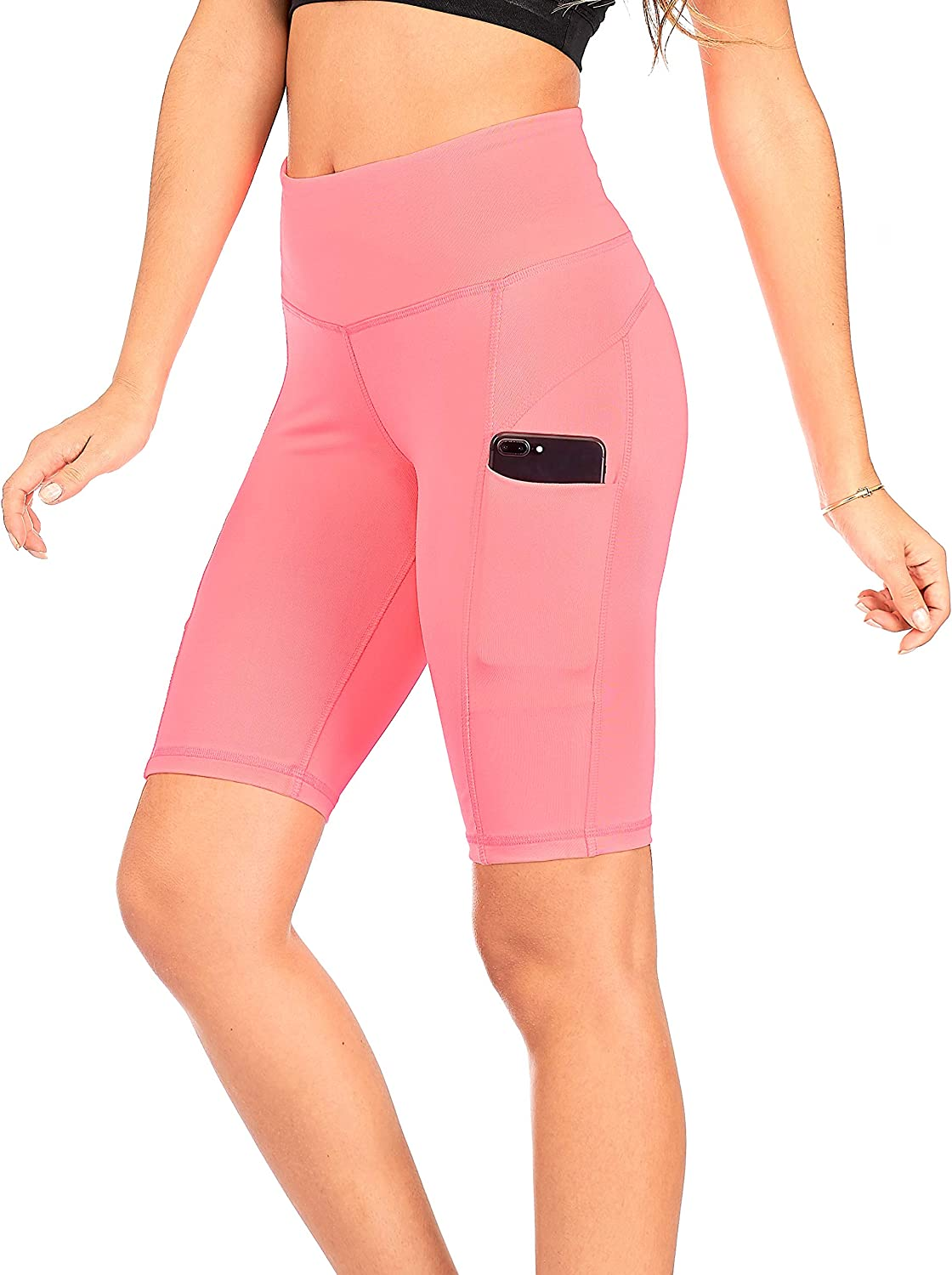 Yoga Athletic Short for Women DEAR SPARKLE High Waist Workout Shorts with 3 Pockets for Women S3