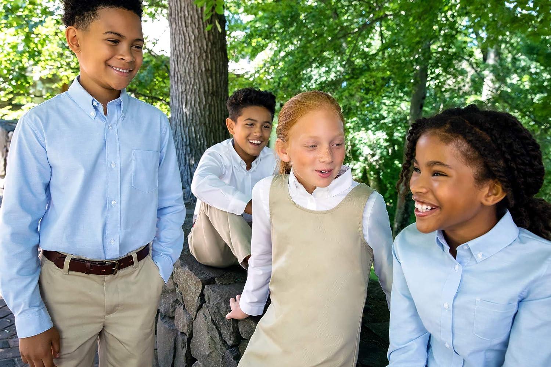French Toast Boys Long Sleeve Classic Dress Shirt Standard /& Husky Button Down Shirt