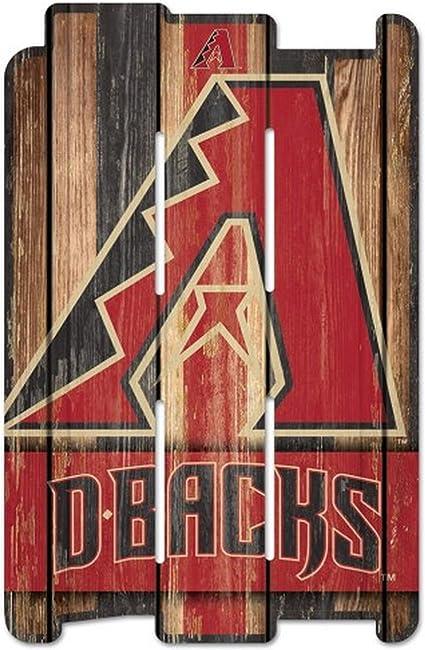 Amazon.com: WinCraft MLB - Cartel para valla (madera), Negro ...