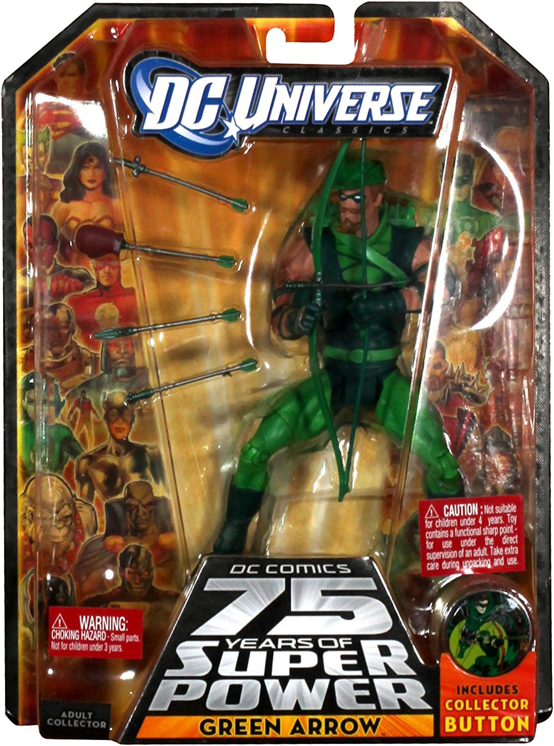 "Green Arrow 12/"" inch Action Figure Highly Posable by Mattel"