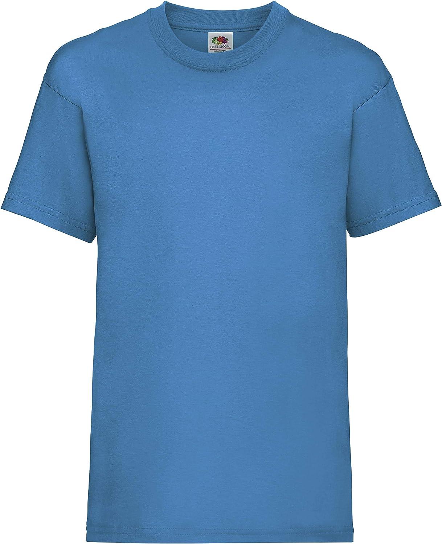 Childrens Plain T Shirt T-shirt Tee Shirt Fruit of the Loom Kids
