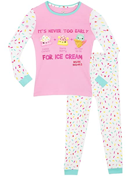 Num Noms - Pijama para niñas - Num Noms - Ajuste Ceñido - 11 - 12