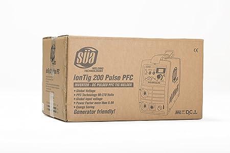 SÜA ionTig 200 Pulse PFC Inverter DC Pulsed TIG Welder - 110/220 Volts - - Amazon.com