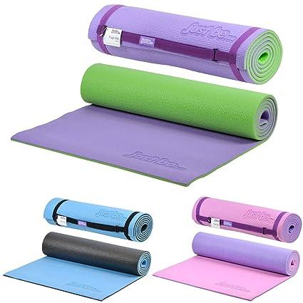 Just be.® Esterilla Yoga - 180cm - Espuma de 10mm de Grosor - Morada/Verde