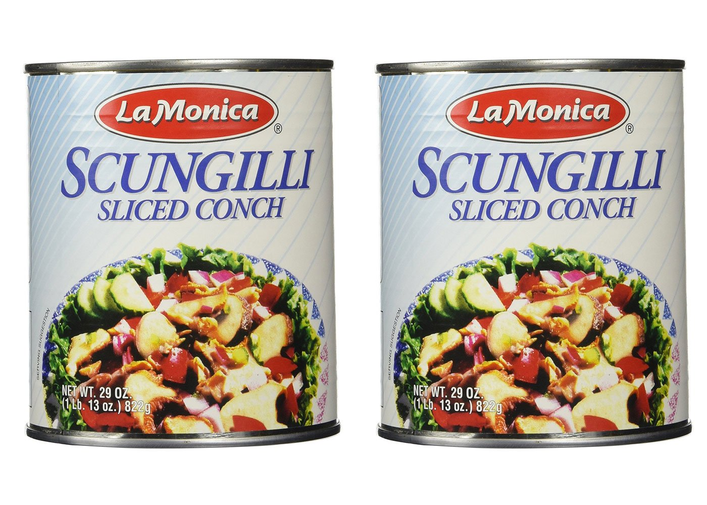 Lamonica Fine Foods Scungilli, Sliced Conch, 29-Ounce - Pack of 2