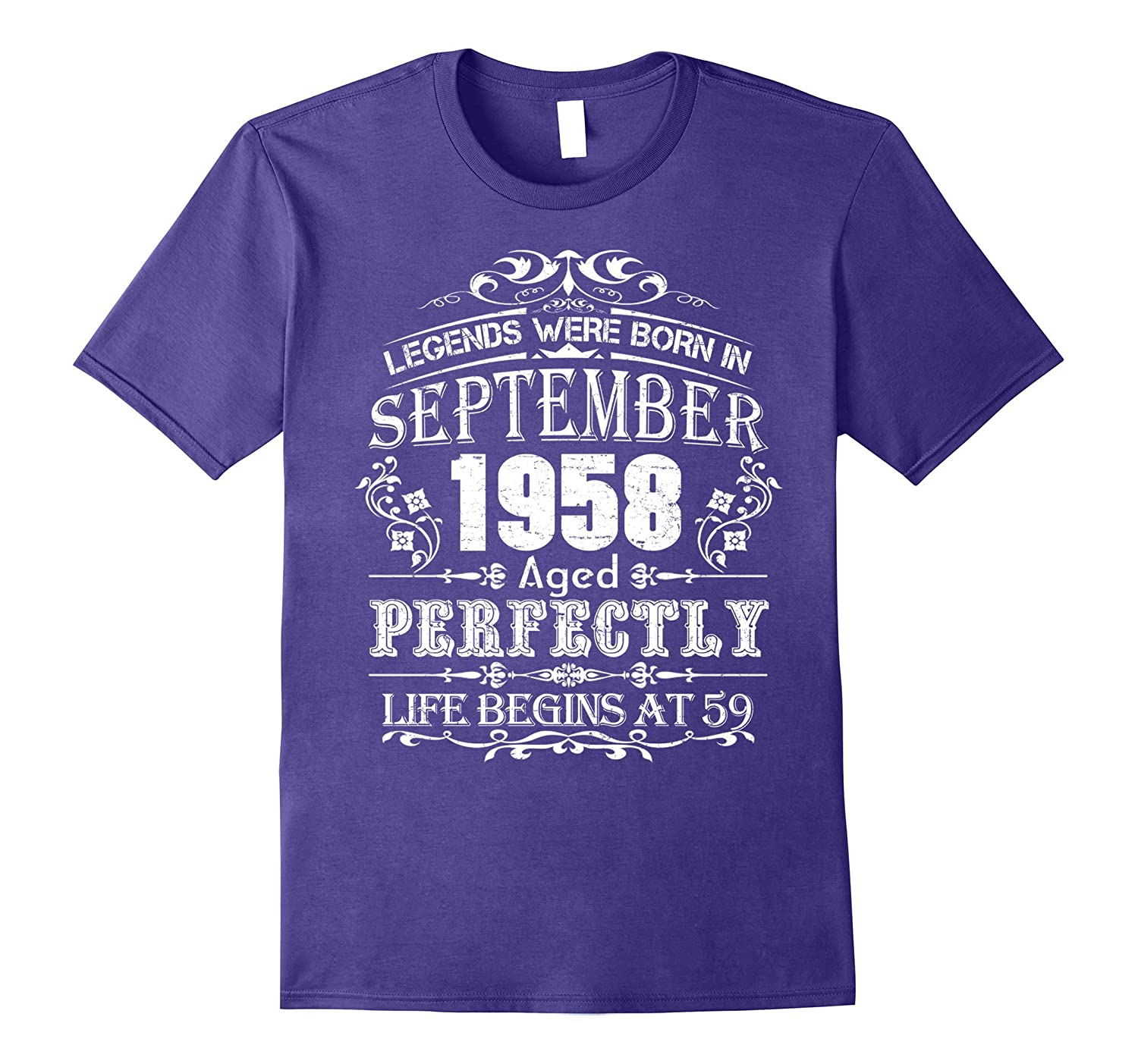 Legends Were Born In September 1958 - 59th Birthday T-Shirt-Art