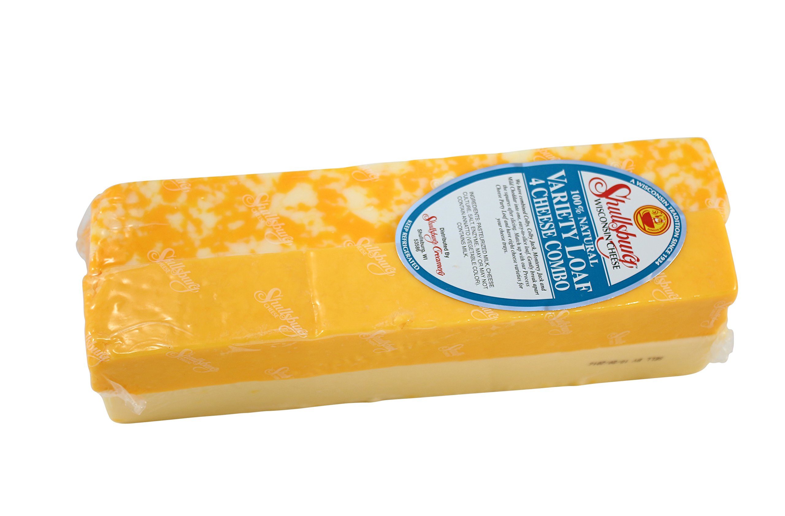 Shullsburg Creamery - Variety Loaf Natural Cheese - 5 Pound Loaf