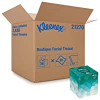Kleenex Professional Facial Tissue Cube for Business (21270), Upright Face Tissue...