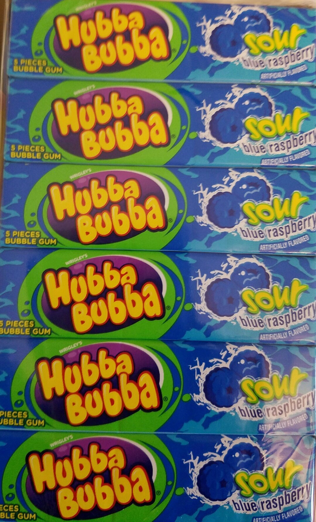 Hubba Bubba Sour Blue Raspberry 18 Count