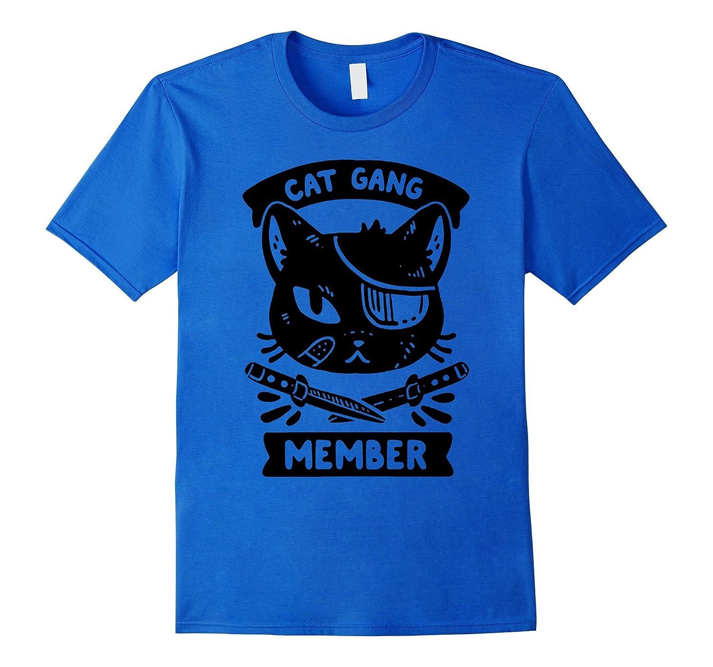 cat gang member pet cats cute claw big lady love book tshirt