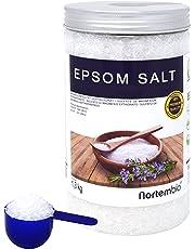NortemBio Sal de Epsom 1,3 kg, Fuente concentrada de Magnesio, Sales 100